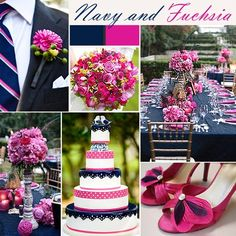 Navy and fuchsia theme
