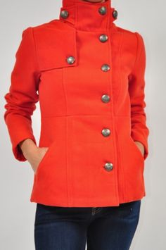 Cecilia Carnelian Orange Coat $78 - Perfect for Fall Weather!!! http://www.shopmapel.com/products.html?productId=27741