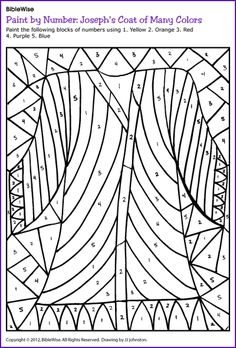 free printables of Joseph and the Coat of many colors