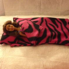 Handmade Fleese sleeping bag & pillow in by KelleysKreationsLV