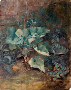john constable(1776-1837), plants growing near a wall, c.1820–1830. oil on paper, 30.5 x 24.8 cm. victoria and albert museum, london, uk http://www.bbc.co.uk/arts/yourpaintings/paintings/plants-growing-near-a-wall-31941