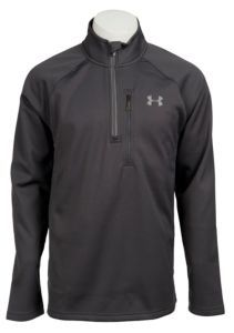 Under Armour® Cold Gear™ Men's Grey Solid Quarter Zip Hunting Pullover | Cavender's