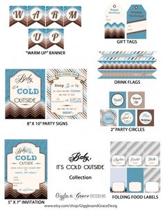 """Free """"Baby It's Cold Outside"""" holiday party printables including a hot cocoa bar! #christmas #printables #hotcocoa"""