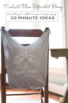 10 Minute Craft - The perfect upcycle / repurpose for your t-shirts! Turn them into a DIY flea market bag and the best part is it is no-sew.