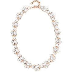 Stella + Ruby Crystal Cluster Statement Necklace ($75) ❤ liked on Polyvore featuring jewelry, necklaces, antique gold, antique gold jewelry, 14k necklace, statement bib necklace, statement necklaces and antique gold jewellery