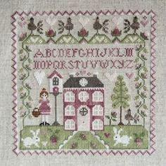 Tralala: Sampler N� 1 da Corinne Rigaudeau - Schemi Punto Croce - Ricamo - Casa Cenina