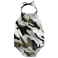 Girl Camouflage Bodysuit.