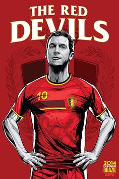 Belgium, Belgio, The Red Devils, Eden Hazard, Fifa WorldCup Brazil 2014