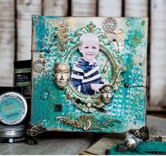 Mixmedia canvas with patina effects / Prima Marketing
