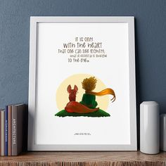 The Little Prince, The Little Prince Poster, Illustrations,Typography, Wall Hanging Wall Art Decor, Home/Office Decor Poster, Gift Idea