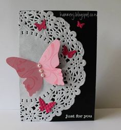 Butterfly Doily by karrenj - Cards and Paper Crafts at Splitcoaststampers