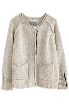 Casual Long-Sleeve Pockets Knit Cardigan
