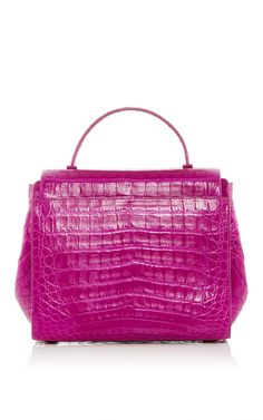 Purple Crocodile Foldover Flap Bag - Nancy Gonzalez Resort 2016 - Preorder  now on Moda Operandi 7668dc9c16dbe
