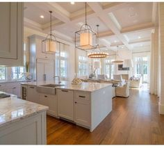 Kitchen flooring is reclaimed Heart Pine. Wide kitchen flooring kitchen-flooring Geoff Chick & Associates The lights-bree Home Decor Kitchen, New Kitchen, Home Kitchens, Kitchen Paint, Kitchen Cabinets, Kitchen Decorations, Apartment Kitchen, 1950s Kitchen, Narrow Kitchen