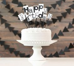 Typography Cake Topper