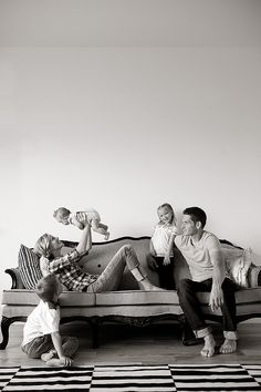 Beautiful, real family photo. The gorgeous models and French couch help. Maybe I can get my peeps to cooperate, someday!