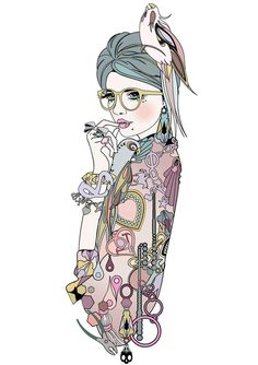 Nadia Flower illustration x