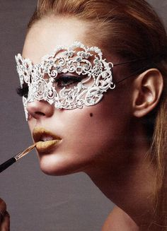 lace mask for winter could be fun