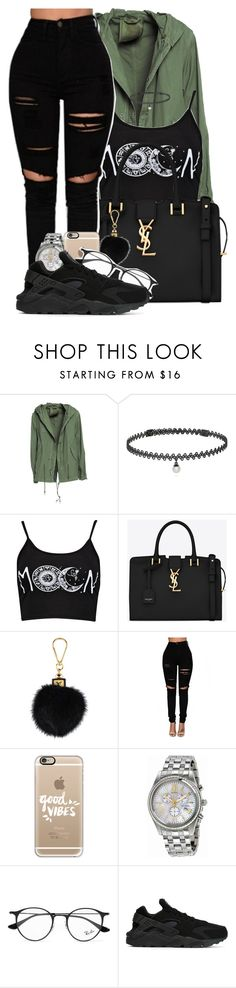 """"""" I caught way too many feelings for you """" by mindlesspolyvore ❤ liked on Polyvore featuring Mr & Mrs Italy, BERRICLE, Boohoo, Yves Saint Laurent, Louis Vuitton, Casetify, Citizen, Ray-Ban and NIKE"""