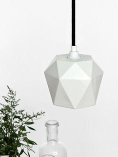Porzellan hanging lamp T3 Lamp triangulated by GANTlights on Etsy