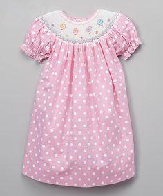 Pink Gingham Lollipops Bishop Dress - Toddler & Girls