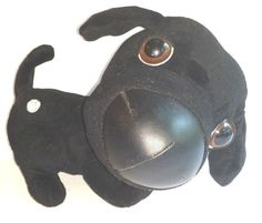 "Artist Collection THE DOG Black Lab Animated Plush Toy Barks Wags Wiggles 10"" #ArtistCollection"