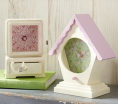 The bird house clock is adorable. #potterybarnkids