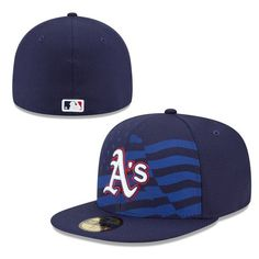 40d27c715027d Oakland Athletics New Era Stars   Stripes 4th of July Diamond Era 59FIFTY  Fitted Hat - Navy