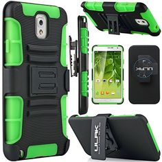 Minisuit Rugged Rubberized Case + Kickstand for Samsung Galaxy Note 3 (High Impact, Black)