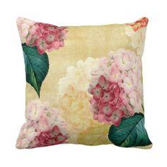 Pretty Hydrangea Floral Pillows http://www.zazzle.com/pretty_hydrangea_floral_pillows-189529353257861342?rf=238282136580680600  $28.95