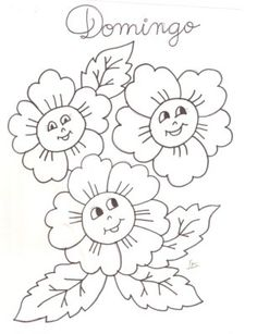 Artes del Nilo – Risks and Rabiscos: folk songs - embroidery Hand Embroidery Patterns Flowers, Simple Embroidery Designs, Hand Embroidery Stitches, Fairy Coloring, Flower Coloring Pages, Flower Pattern Design, Painting Templates, Bird Crafts, Abstract Flowers
