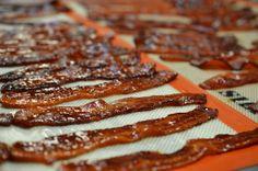Brown sugar + bacon = OMG #brownsugar #bacon #omnomnom Brown Sugar Bacon, Candied Bacon, Chocolate Desserts, Truffles, Meat, Breakfast, Food, Morning Coffee, Essen