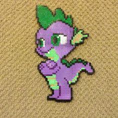 Spike My little Pony perler beads by tys_stuff