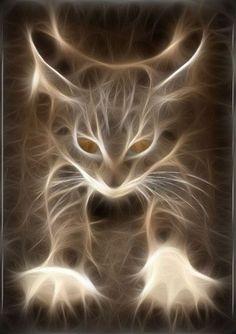 animal, animals, art, cat, cats, computer graphics