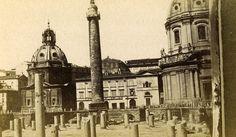 Italy Roma Column Trajan Old CDV Photo 1870