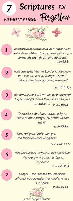 Seven Scriptures for when you fee forgotten