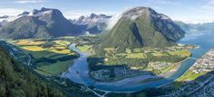 """""""As the fog of dawn melted away the Valley of the Gods revealed itself"""" Åndalsnes Norway [4730x2169] [OC]"""