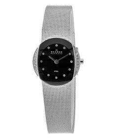 Look what I found on #zulily! Black & Stainless Steel Filigree Bracelet Watch by Skagen #zulilyfinds