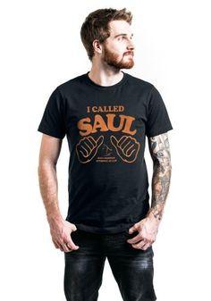 """Classica T-Shirt uomo nera """"I Called Saul"""" della serie televisiva #BetterCallSaul."""
