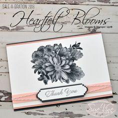 Stampin' Up! Heartfelt Blooms Sale-a-Bration stamp set