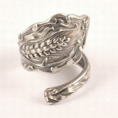 Ode to Wheat, Sterling Silver Spoon Ring