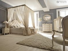 Romantic Luxury Master Bedroom | European-style luxury villa romantic bedroom decoration effect chart ...