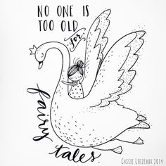Fairy tales Forever. Day 119 of yearlong sketchbook project. Cassie Loizeaux 2014