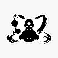 The Last Avatar, Avatar The Last Airbender, Cartoon Stickers, Cute Stickers, Tatuaje Mandala Floral, Avatar Tattoo, Black And White Stickers, Avatar Characters, Cute Disney Drawings