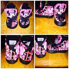 Minnie Mouse converse made by me #customizedconverse