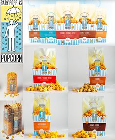 Gary Poppins Artisan popcorn packaging and branding by DesignScout.