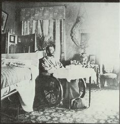 Tsar Nicholas II recovering from typhoid in 1900