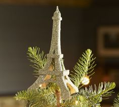 an Eiffel Tower Tree Topper.