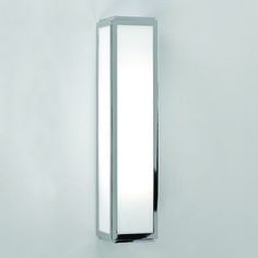 The Mashiko 360 Bathroom Wall Light has a Polished Chrome Finish with White Frosted Glass IP44 Rated. Astro 0550