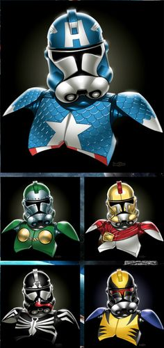 Clone Trooper Superheroes!
